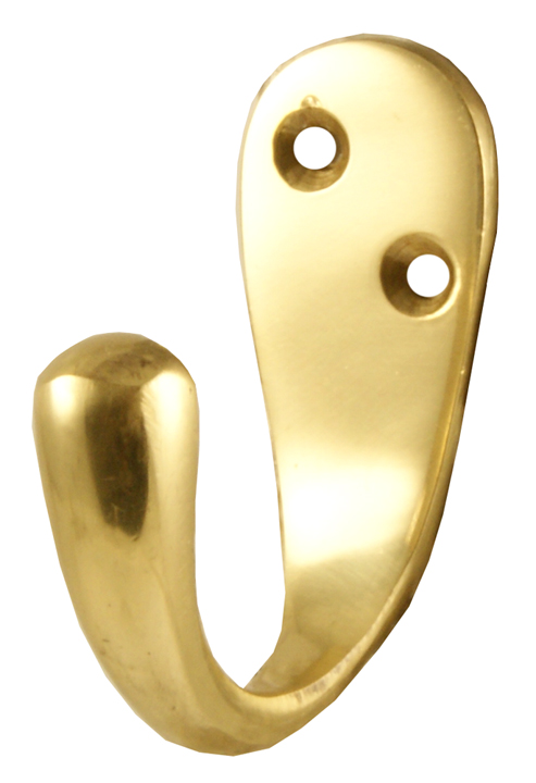 Image of Heritage V1040 Brass Single Coat Hook 43mm