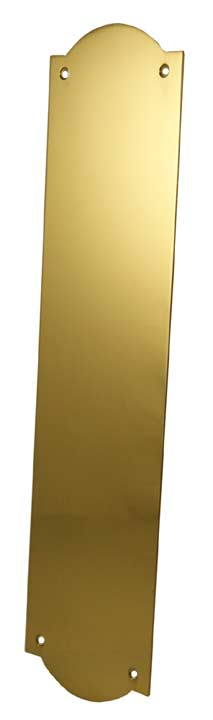 Image of Solid Brass Flat Shaped Push Plate 305x77mm