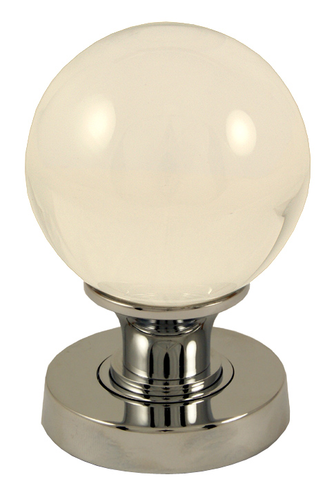 Image of Clear Glass Ball Style Interior Door Knobs