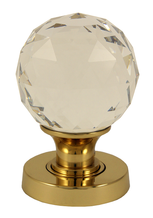 Image of Clear Glass Cut Style Interior Door Knobs