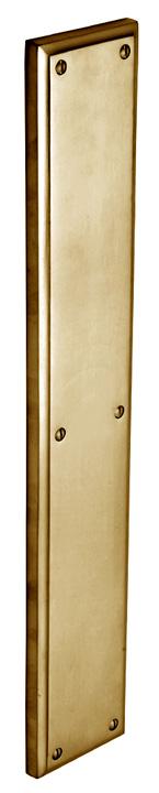 Image of Heritage V1166 Brass Heavy Door Push Plate 460x76mm