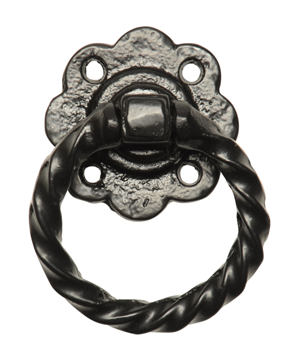 Kirkpatrick 679 Black Antique Style Ring Gate Latch Handle