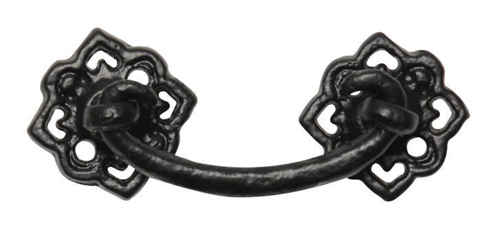 Black Antique Ironwork Drawer Handle 33x33mm 1009