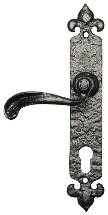 Black Antique Ironwork EURO Lock Plate Multipoint Locking 2462