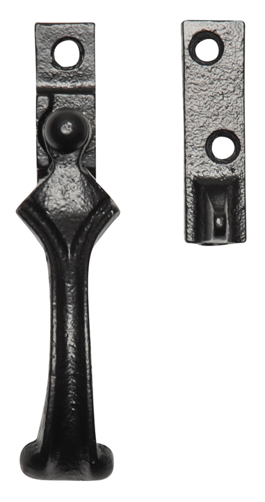 Image of Black Smooth Iron Window Handle Fastener 2709