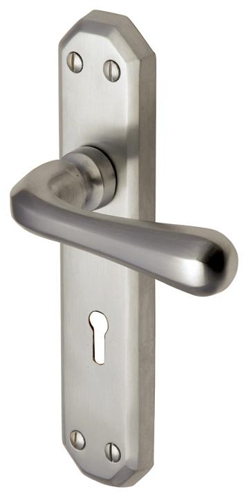 Heritage V7050 Charlbury Satin Nickel Lever Lock Door Furniture