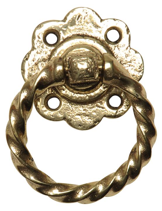Antique Cast Brass Range Ring Gate Handle 679