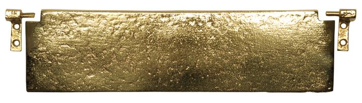 Stockists of Antique Cast Brass Range Interior Door Plate 1102