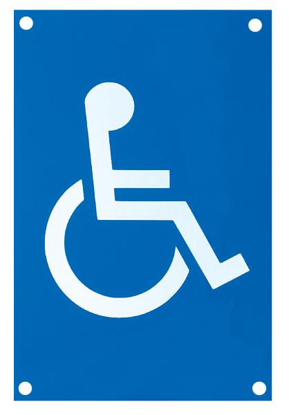 Nylon 100x150mm Disabled Door Sign