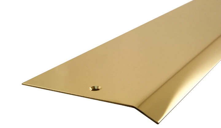 Solid Brass Carpet Cover Strip 1 Side Bevel