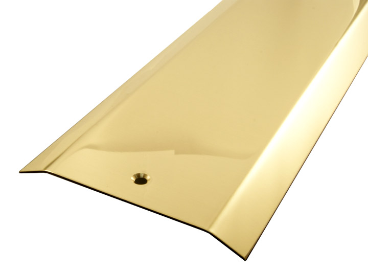 Solid Brass Carpet Cover Strip 2 Side Bevel