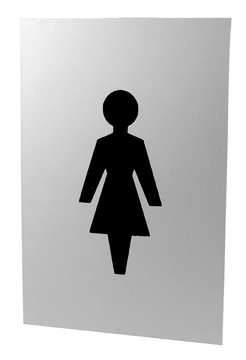 Image of Satin Anodised Toilet Indicator International Female