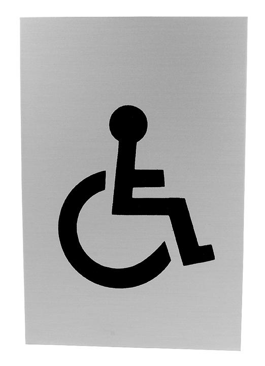 Image of Satin Anodised Disabled Indicator International