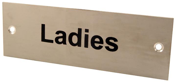 Image of Satin Anodised Plaque LADIES