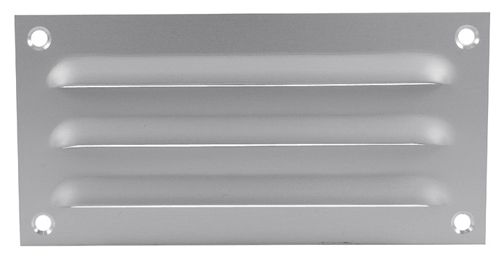 Image of Aluminium Fixed Slotted Vent 6x3in (150x75mm)