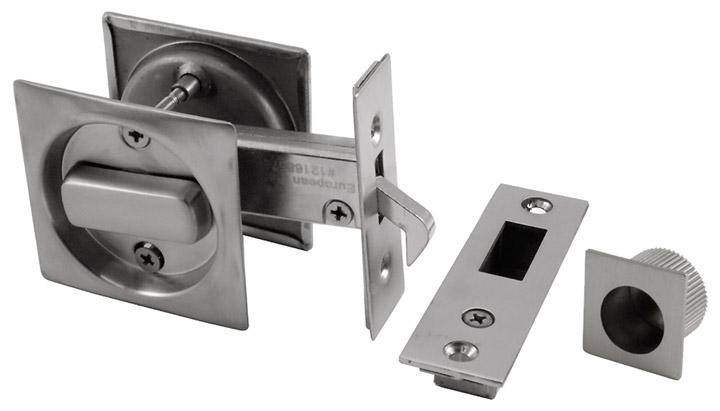Bathroom Sliding Door Lock Square Plate