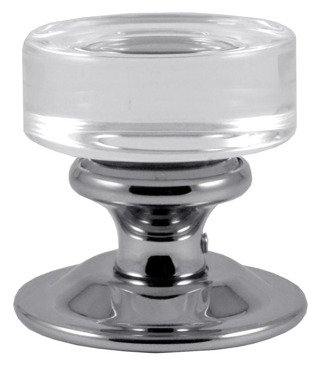Image of Clear Glass Mortice Door Knobs 57mm