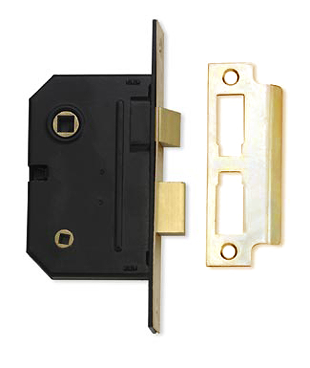 Assa Abloy 2.5IN Bathroom Mortice Lock Polished Brass