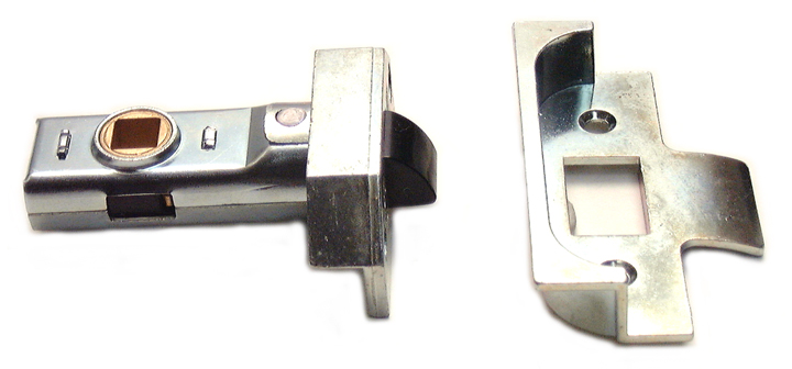 Image of Assa Abloy Rebated Tubular Mortice Latch Bright Zinc 2.5in (64.5mm)