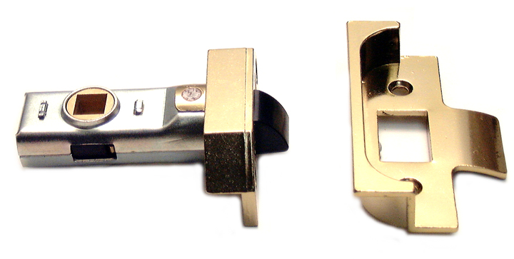 Image of Assa Abloy Rebated Tubular Mortice Latch Electro-Brassed 2.5in (64.5mm)
