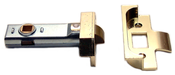 Image of Assa Abloy Rebated Tubular Mortice Latch Electro-Brassed 3in (80mm)