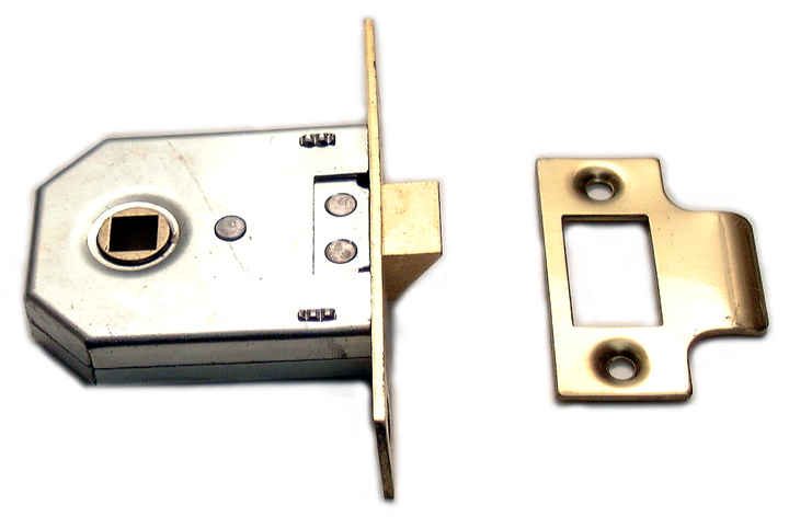 Image of Assa Abloy Square Cased Mortice Latch Brass 2.5in (63.5mm)