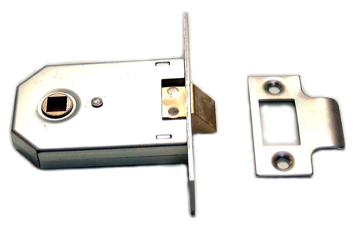 Image of Assa Abloy Square Cased Mortice Latch Chrome 3in (76.5mm)