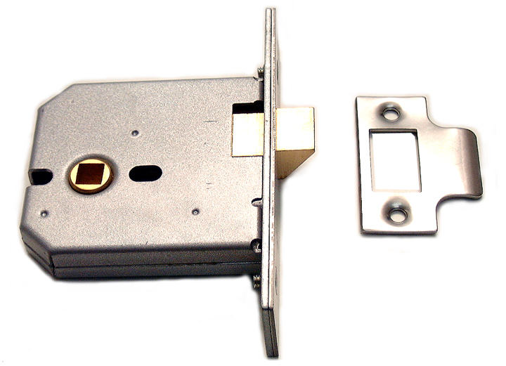 Image of Assa Abloy Heavy Duty Mortice Latch Matt Chrome 3in (77.5mm)