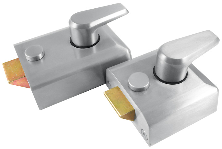 M Marcus Satin Chrome Security Nightlatch and Cylinder
