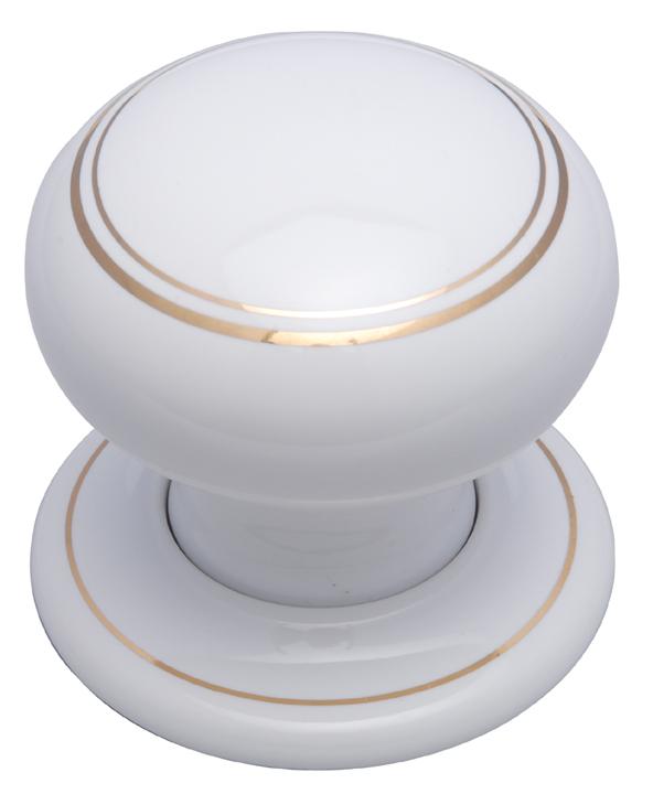 White Gold Line Knob