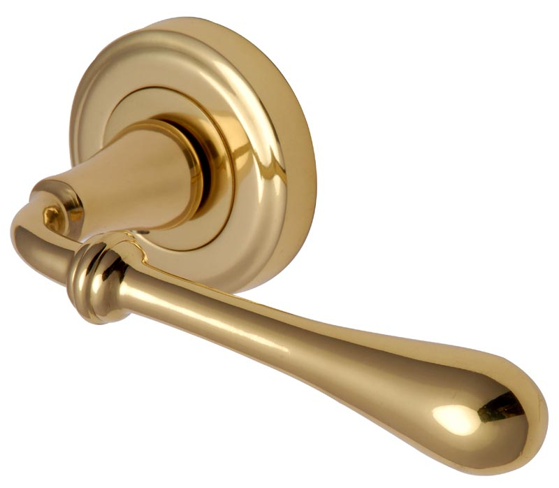 Brass Lever on Rose