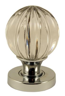 Glass Pumpkin Knob