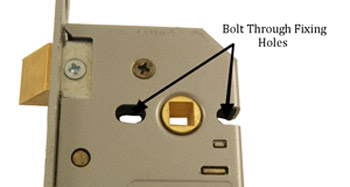 Sash Lock Fixing Holes