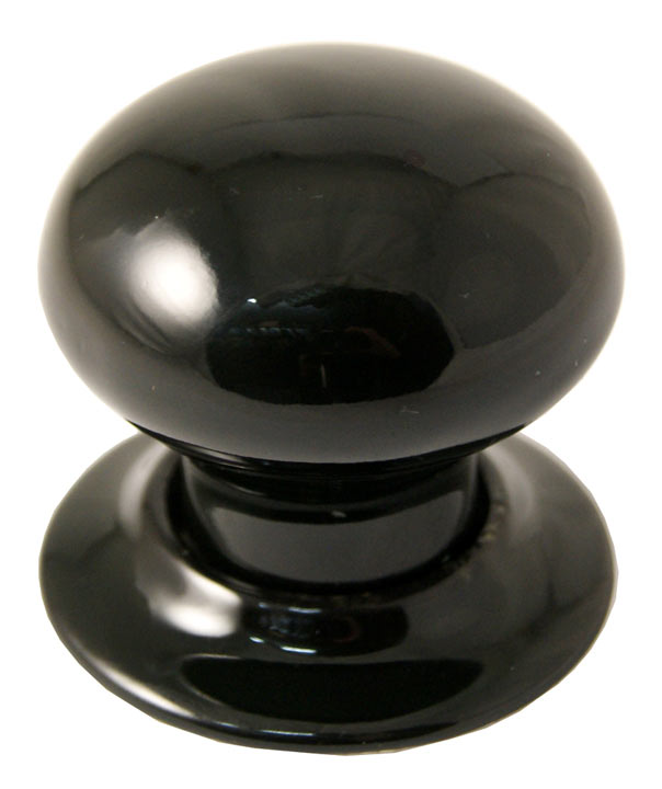 Black Plain Knob