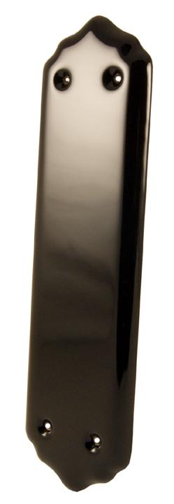 Black Plain Finger Plate