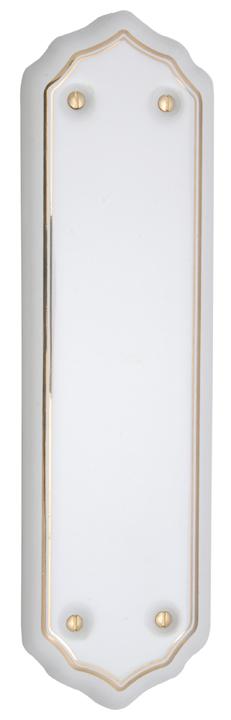 White Gold Line Finger Plate