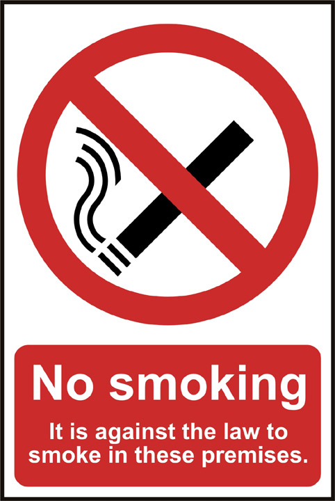Image of Notice No Smoking It Is Against The Law