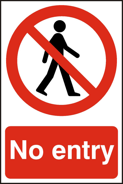Image of No Entry - PVC 200 x 300mm