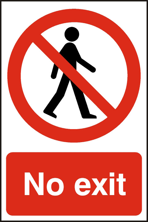 Image of Notice No Exit