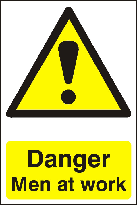 Image of Danger Men At Work - PVC 200 x 300mm