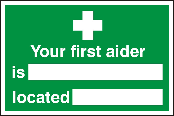 Image of Notice Your First Aider Is