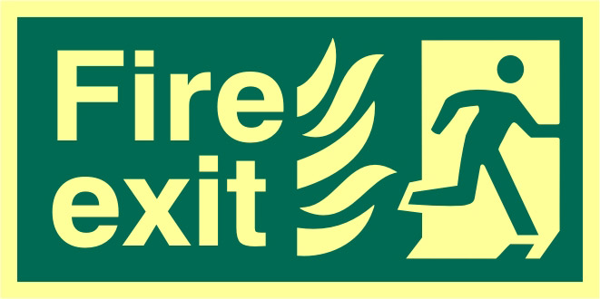Image of Fire Exit Glow In The Dark