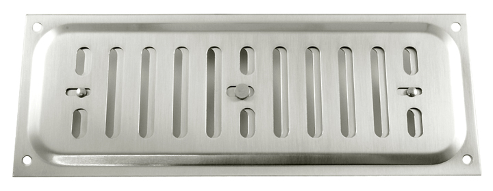 Image of Brushed Stainless Steel Hit and Miss Vent 210x76mm