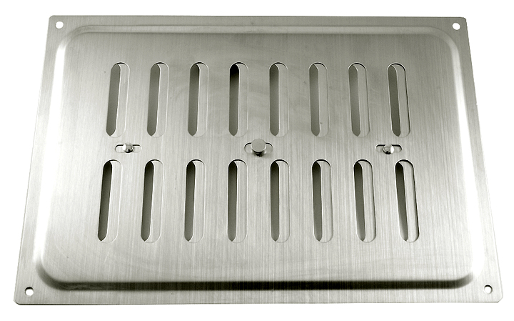 Image of Brushed Stainless Steel Hit and Miss Vent 210x152mm