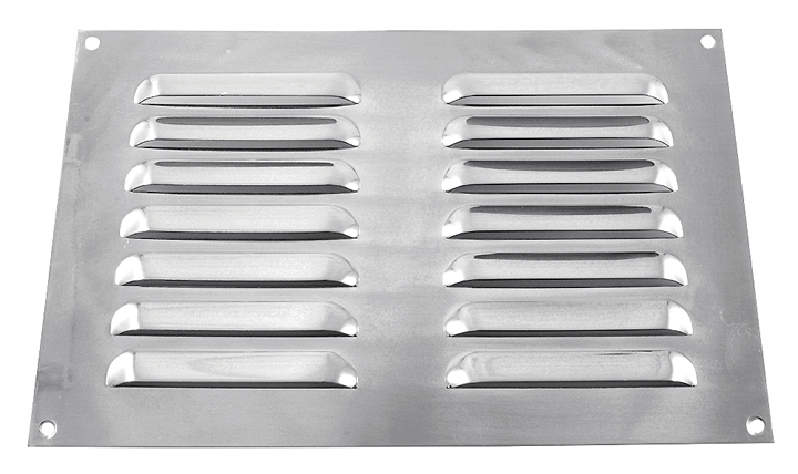 Image of Brushed Stainless Steel Slotted Vent 229x152mm