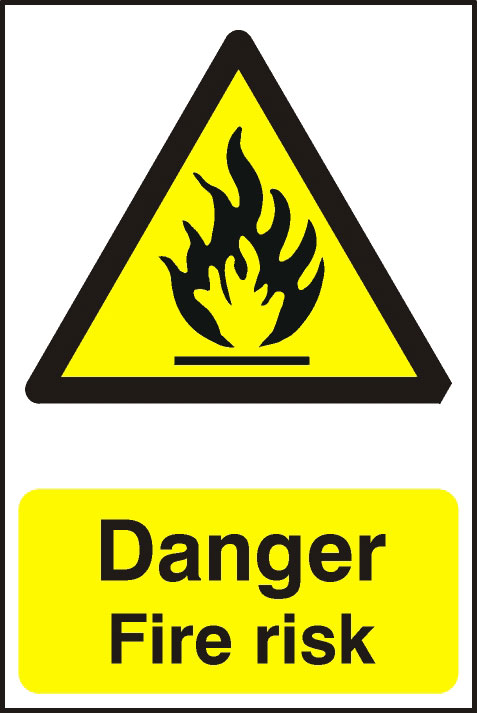 Image of Notice Danger Fire Risk