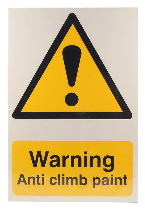 Image of Notice Warning Anti Climb Paint