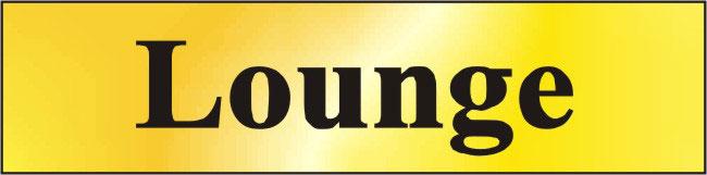 Image of Polished Gold Style Lounge Sign
