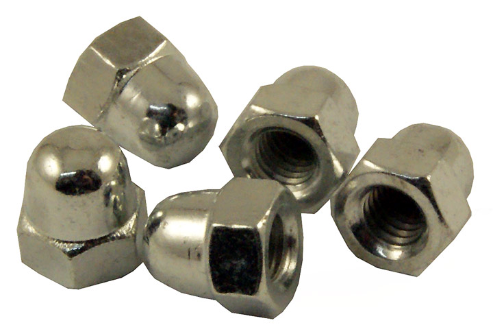 M6 Zinc Plated Dome Nuts