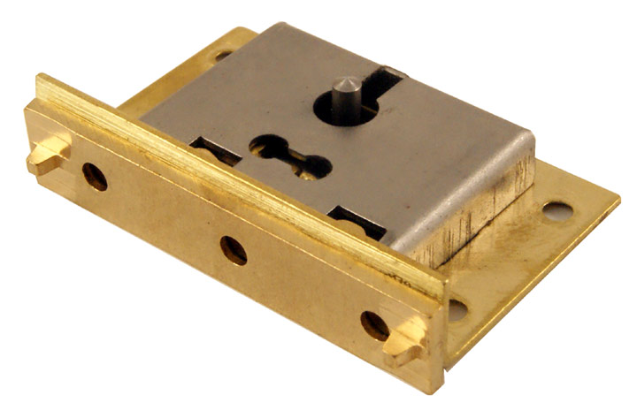 Image of Brass Box Lock 51mm